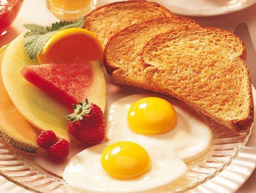 Desayuno saludable con huevo