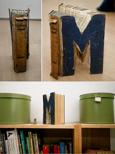Decoraci n con libros vintage vivir mejor for Decoracion con libros