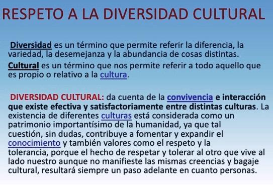 ¿Por qué es importante el respeto a la diversidad cultural?